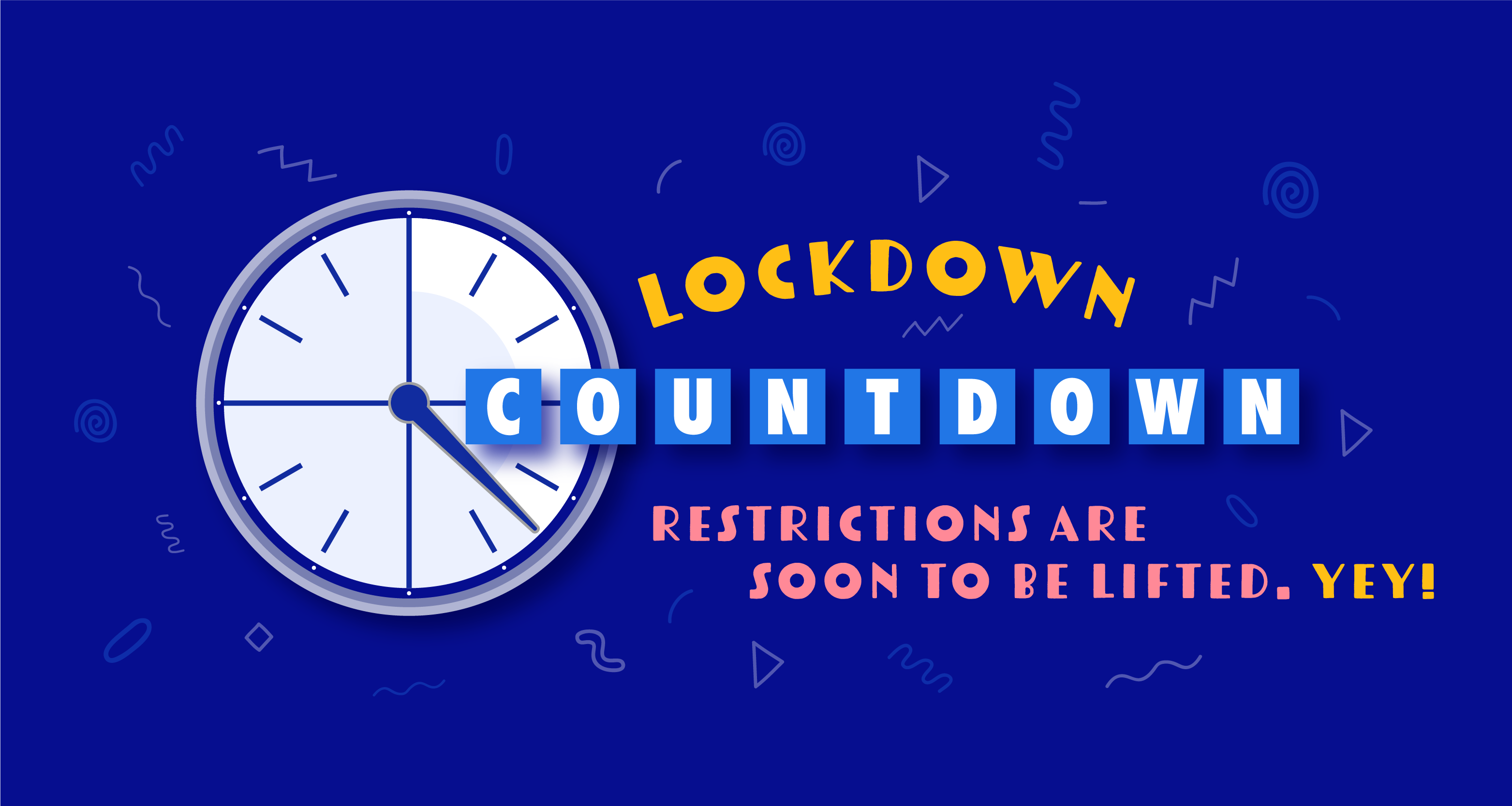 Counting down the days till the end of the lockdown.