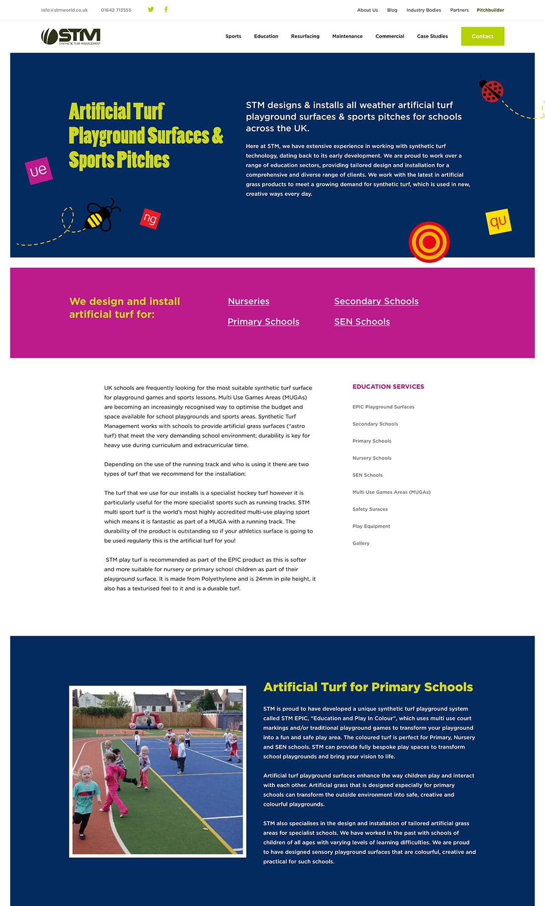 Education page branding