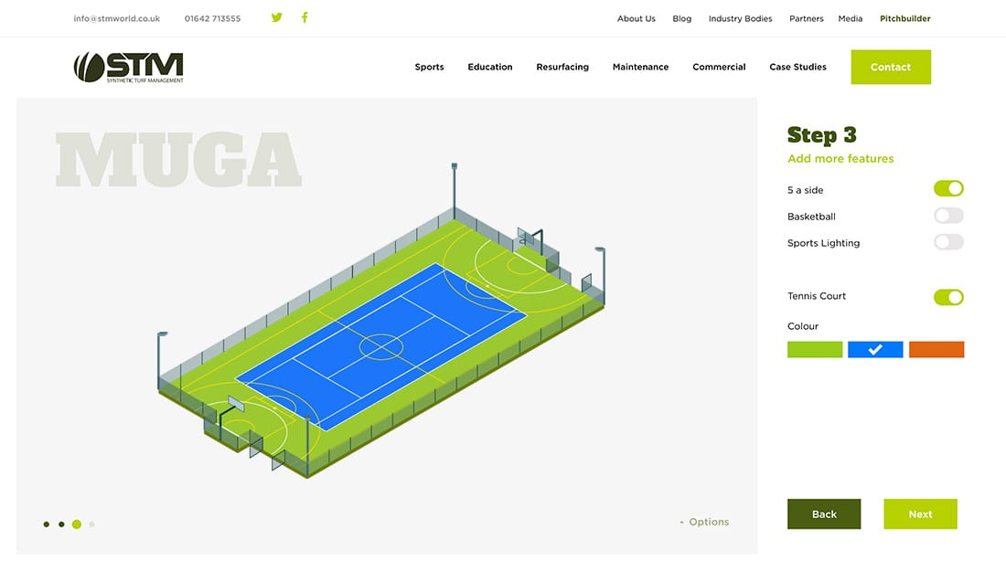 Pitch builder muga