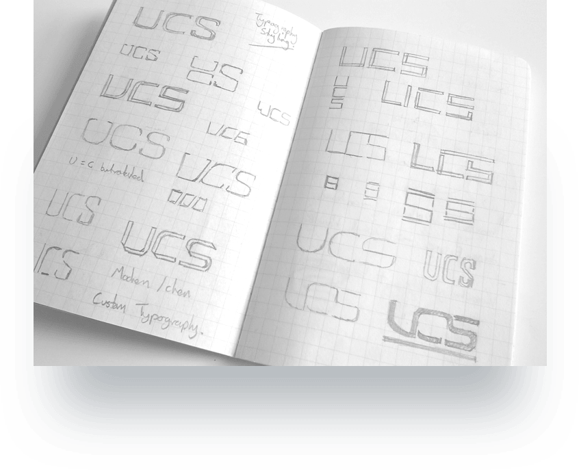 Initial UCS logo sketches